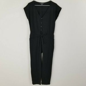 Norma Kamali Jumpsuit XS Black Pocket V-Neck